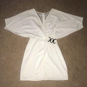 Marciano drape sleeve dress